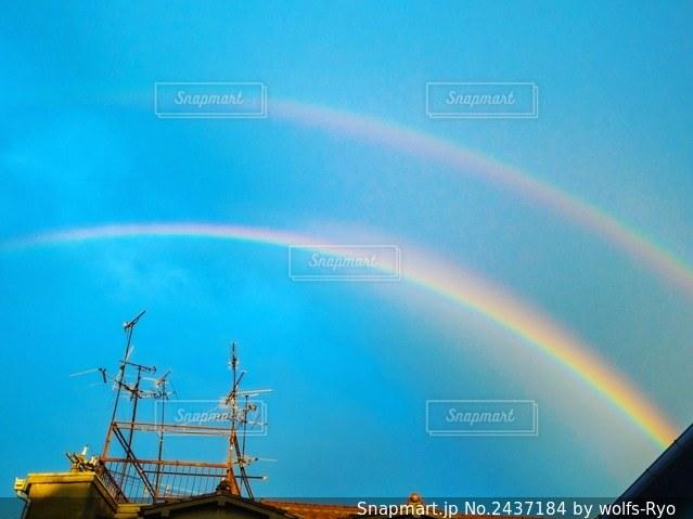 空の虹の写真・画像素材[2437184]