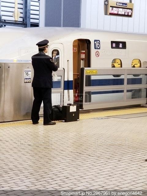 新幹線の車掌さんの写真・画像素材[2867961]
