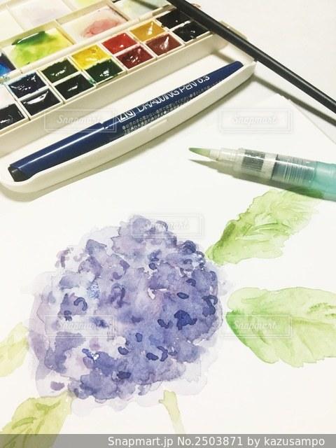 趣味の水彩画の写真・画像素材[2503871]