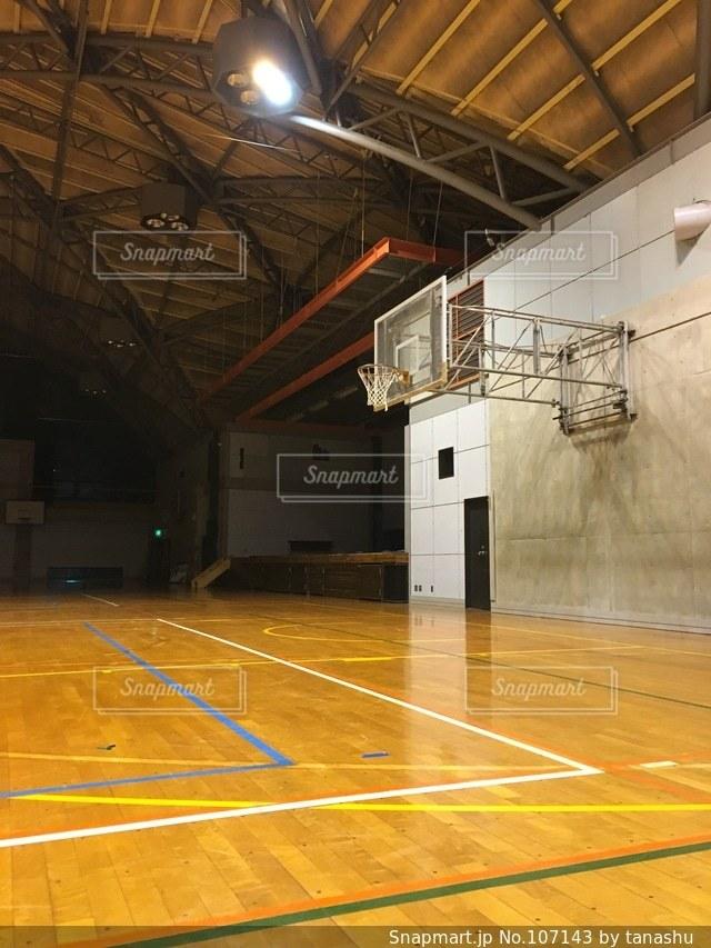 バスケットゴールの写真・画像素材[107143]