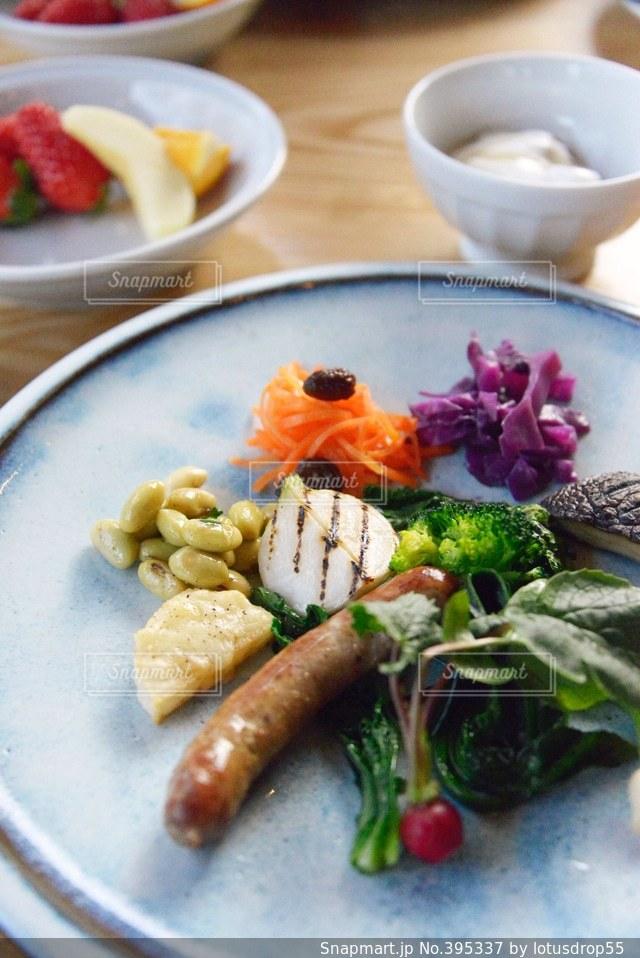 食事,朝食,野菜,ワンプレート,ごはん,美味しい,休日