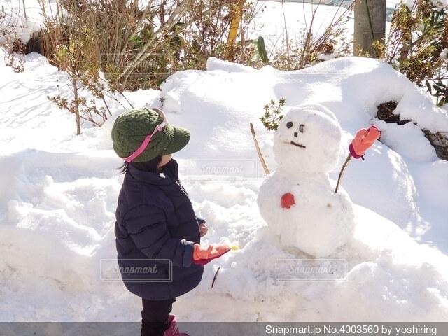 雪だるまの写真・画像素材[4003560]