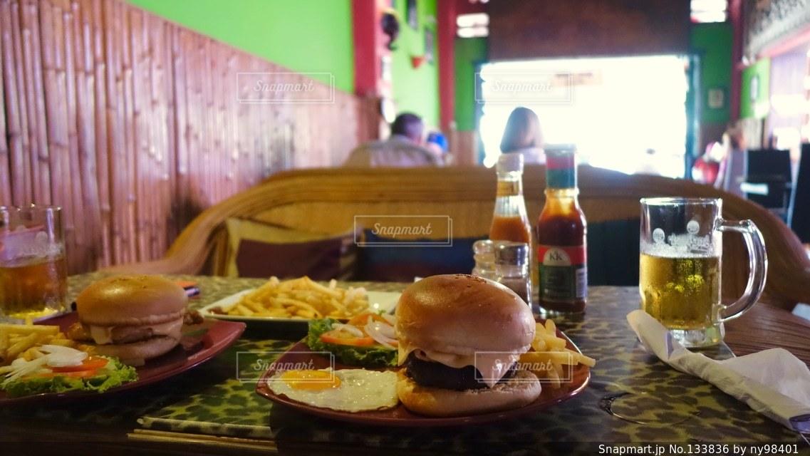 ハンバーガーの写真・画像素材[133836]