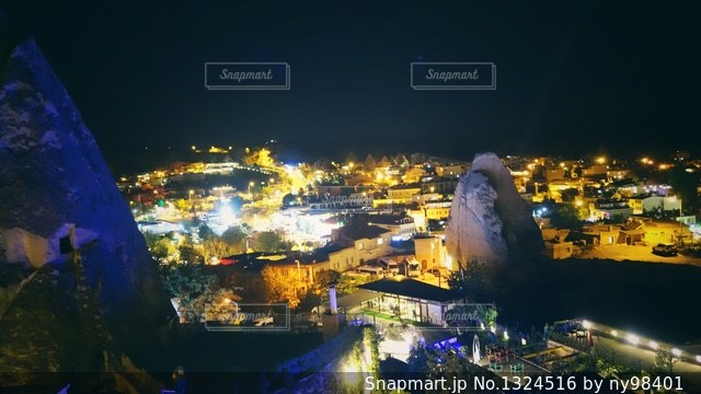 カッパドキア夜景の写真・画像素材[1324516]