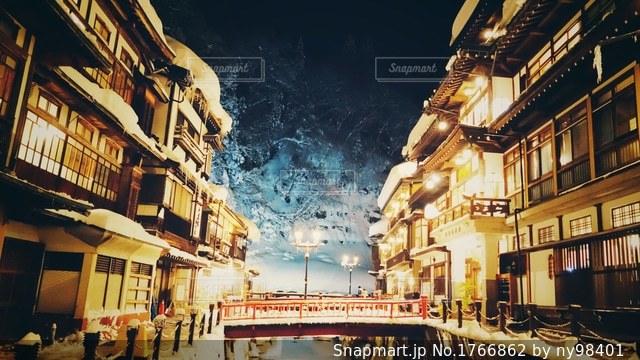 銀山温泉の写真・画像素材[1766862]