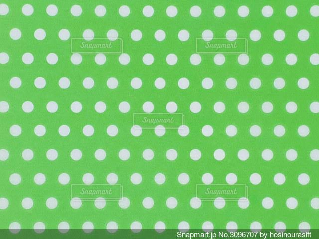 水玉 緑色 背景の写真・画像素材[3096707]