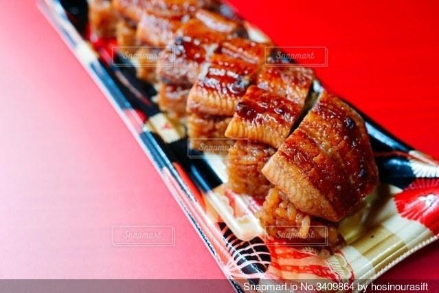 うなぎのお寿司の写真・画像素材[3409864]
