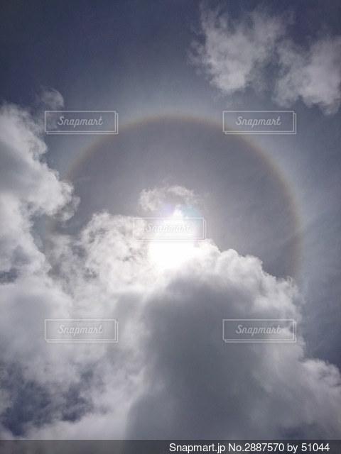半分ハロの写真・画像素材[2887570]