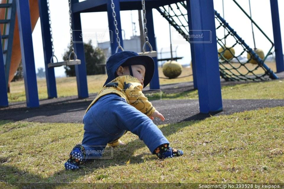 公園,芝生,ブランコ,子供,遊具,天気,息子