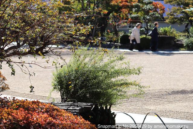 城の庭園を歩くの写真・画像素材[2950429]