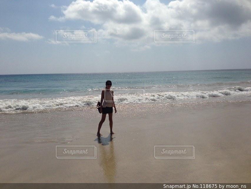 海と私の写真・画像素材[118675]