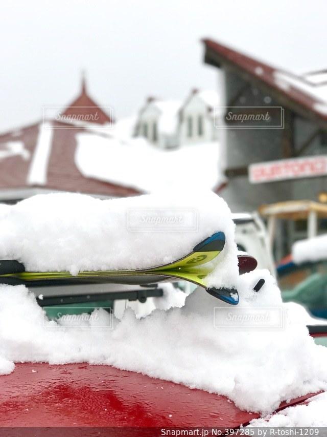 冬,雪,スキー場,ペンション,スキー板