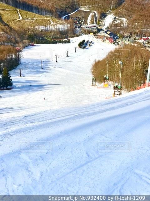 スキー場の斜面の写真・画像素材[932400]