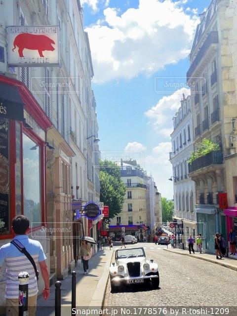 フランスの街並みを散策の写真・画像素材[1778576]
