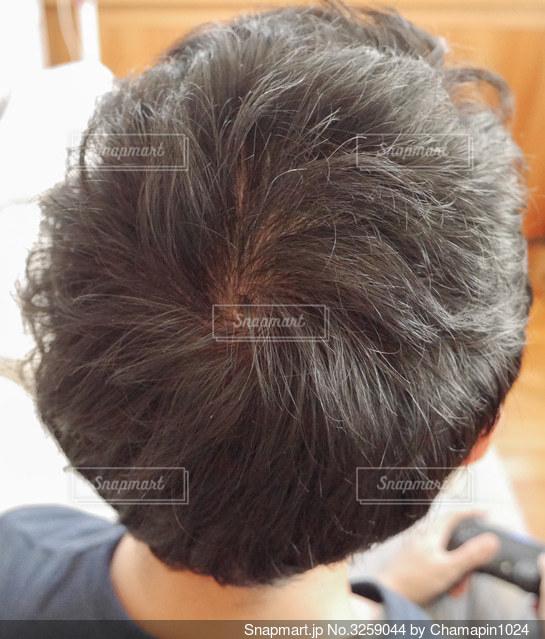 男性の頭の写真・画像素材[3259044]