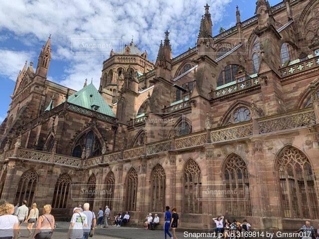 フランス ストラスブール大聖堂の写真・画像素材[3169814]