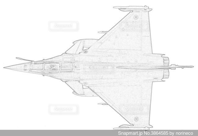 フランス空軍 ラファールCの写真・画像素材[3864585]