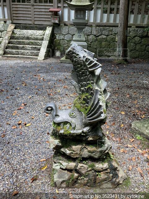 狛犬シャチホコ版の写真・画像素材[3523431]
