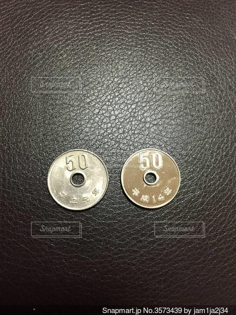 レアコインの写真・画像素材[3573439]