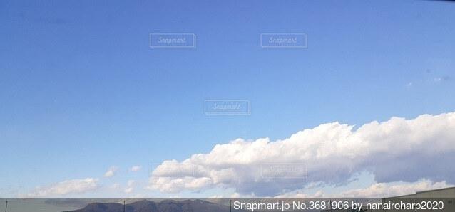 赤城山上空の白龍雲の写真・画像素材[3681906]