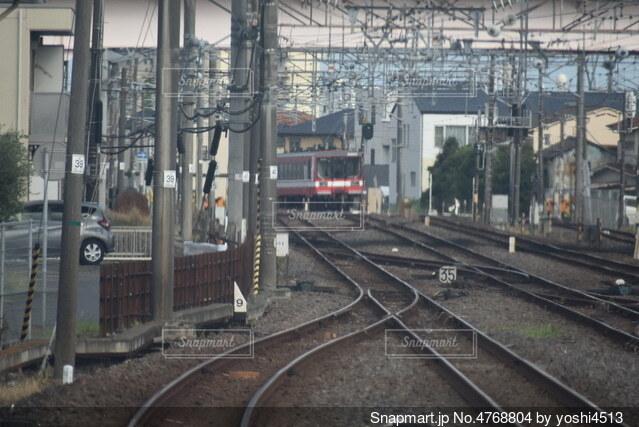 水戸駅発車後 前面展望の写真・画像素材[4768804]