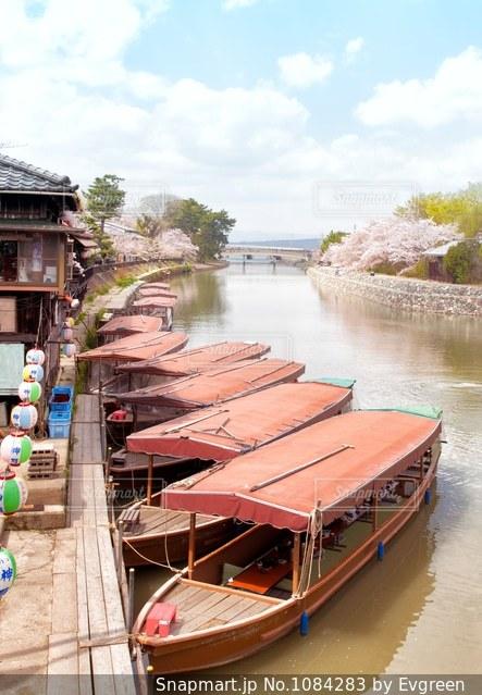 春の宇治川の風景の写真・画像素材[1084283]