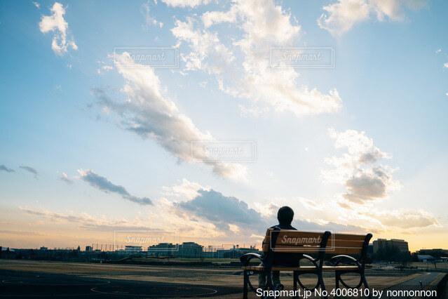 広い空の写真・画像素材[4006810]