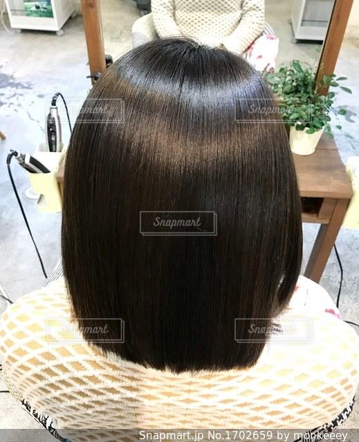 艶のある髪の写真の写真・画像素材[1702659]