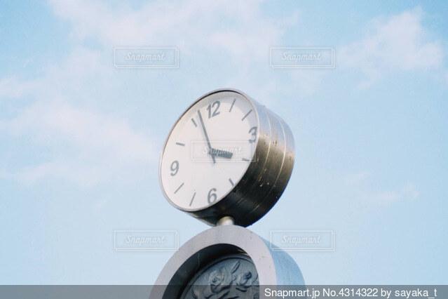 公園の時計の写真・画像素材[4314322]