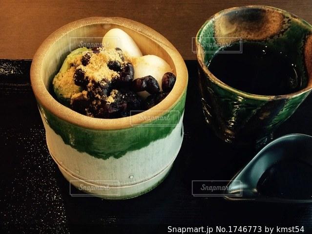 白玉の和スイーツの写真・画像素材[1746773]