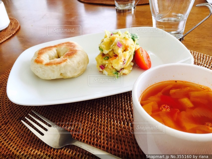 朝食,パン,ふわふわ,ベーグル,朝ごはん,ブレックファースト,breakfast,美味しい,手作り,焼きたて,モチモチ