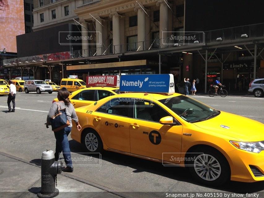 ニューヨーク,車,道路,都会,タクシー,クルマ,taxi,New York
