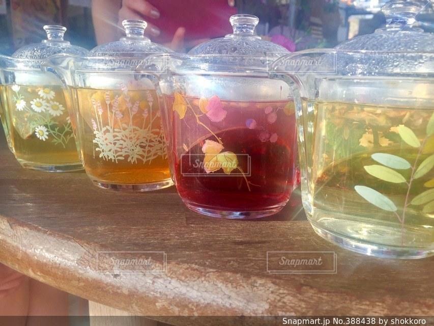 飲み物,カラフル,お茶,ハーブティー,花柄,ボタニカル,ポット