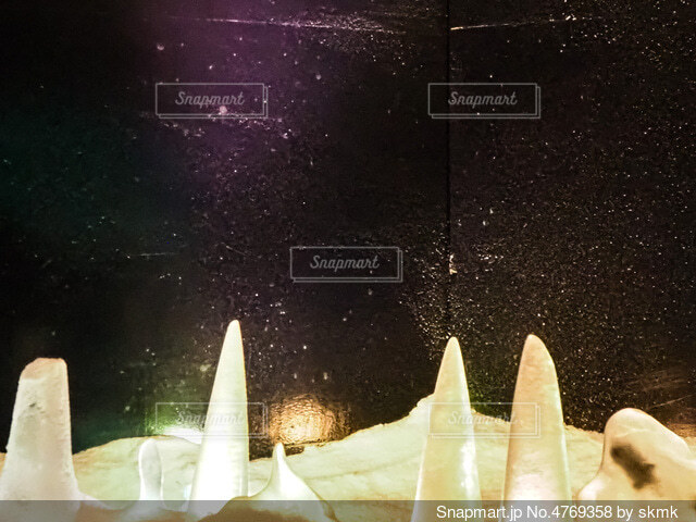 氷とダイヤモンドダストの写真・画像素材[4769358]