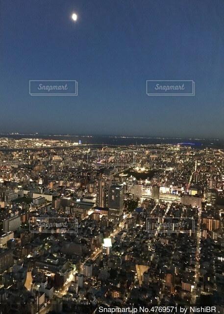 スカイツリーから見た夜景の写真・画像素材[4769571]