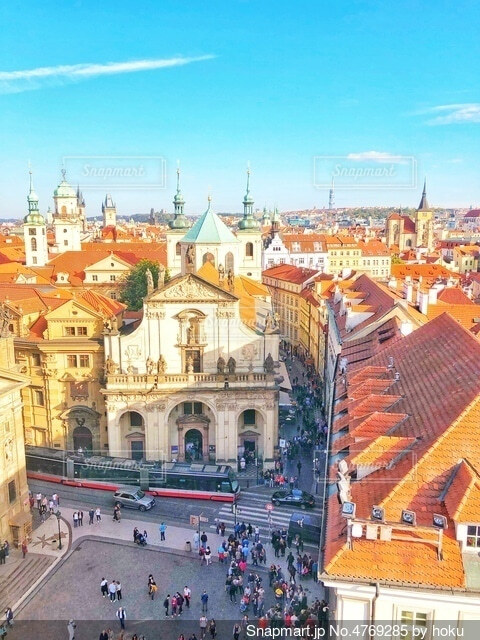チェコの街並の写真・画像素材[4769285]