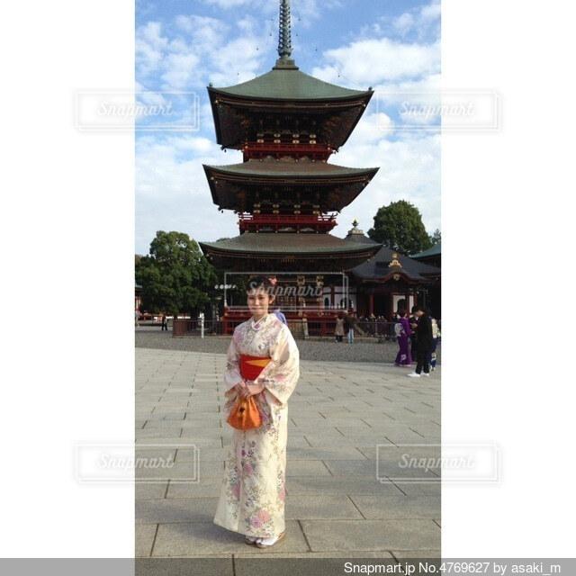 成田山と着物の写真・画像素材[4769627]