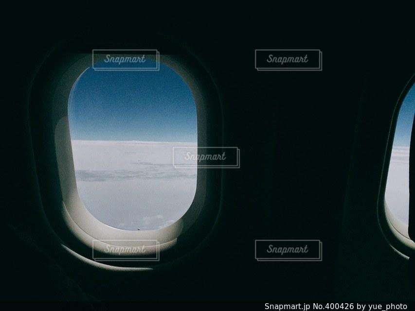 空,絶景,青,飛行機,窓,スマホ,旅行,スマートフォン,地平線,地球