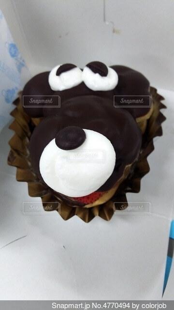 わんちゃんカップケーキの写真・画像素材[4770494]