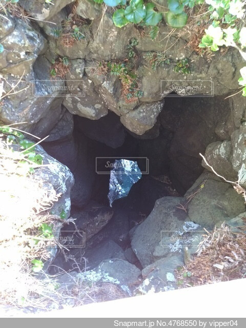 岩の隙間の写真・画像素材[4768550]