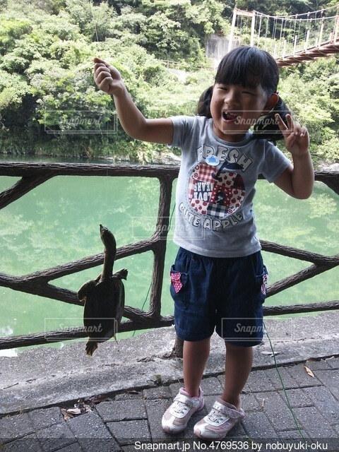 スッポン釣りの写真・画像素材[4769536]