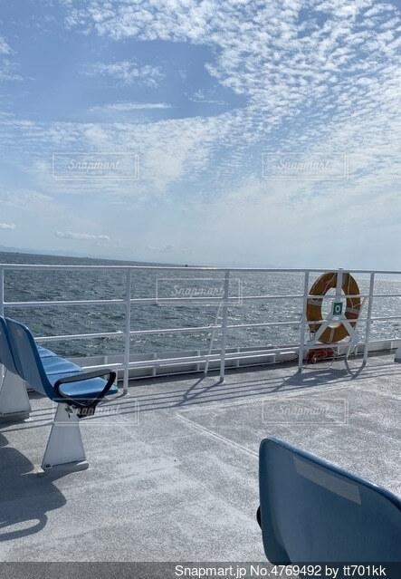 夏の船の写真・画像素材[4769492]