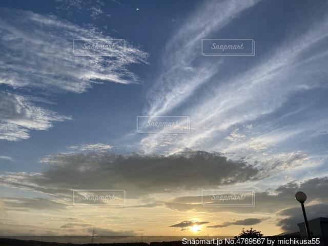 空の雲の写真・画像素材[4769567]