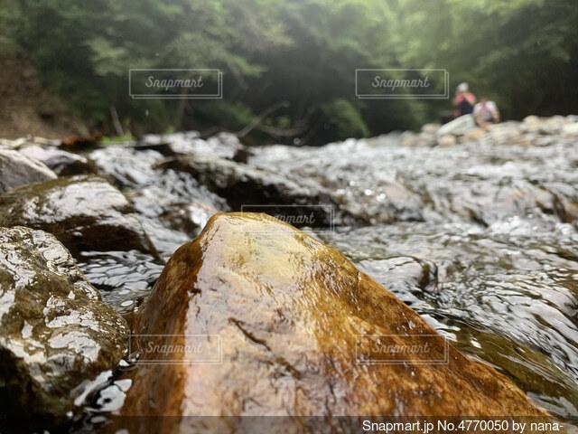 夏の日の岩の写真・画像素材[4770050]
