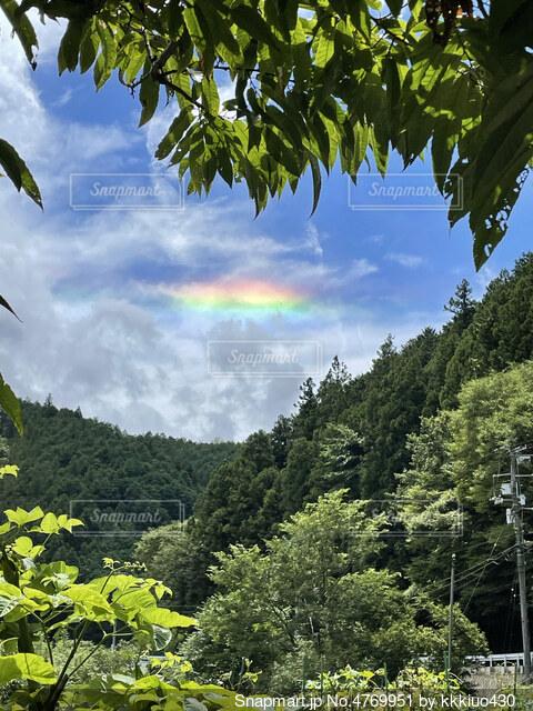 幸せの雲の写真・画像素材[4769951]