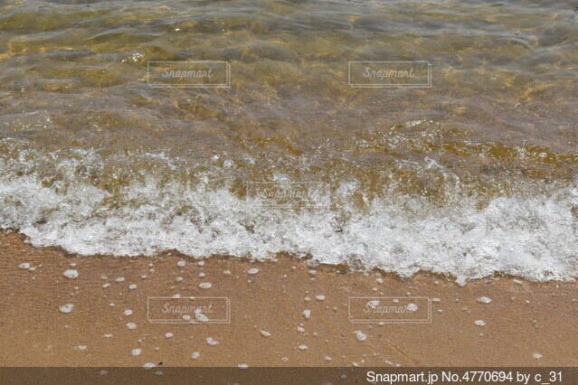 海の隣の砂浜の写真・画像素材[4770694]