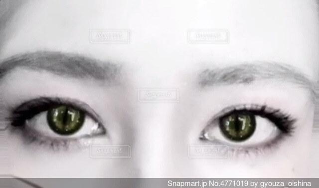 見つめる目の写真・画像素材[4771019]