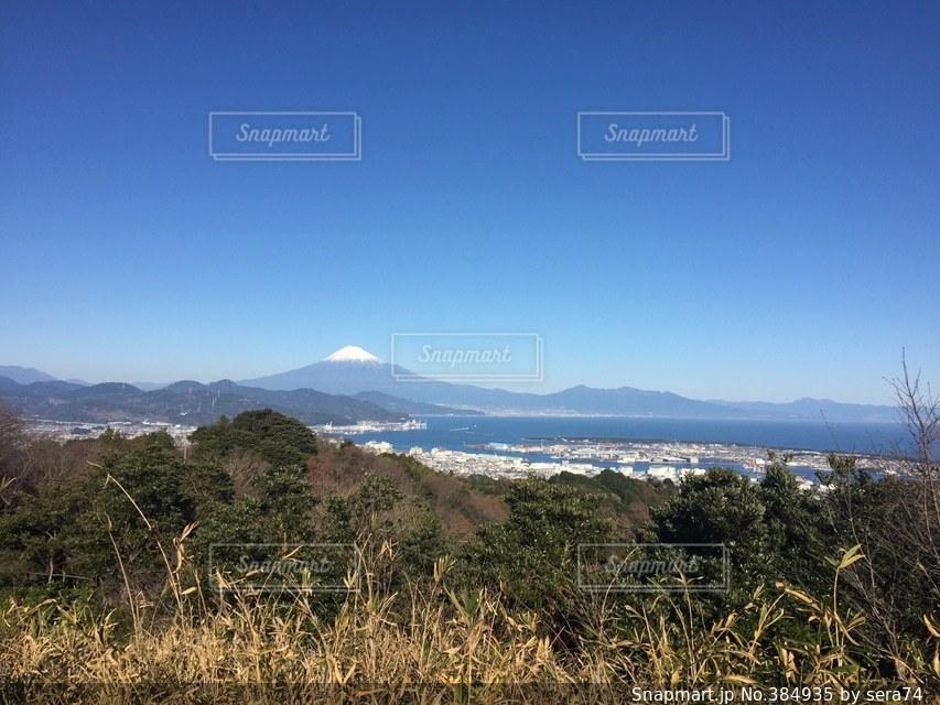 自然,風景,富士山,青空,正月,元旦,富士,静岡,日本平