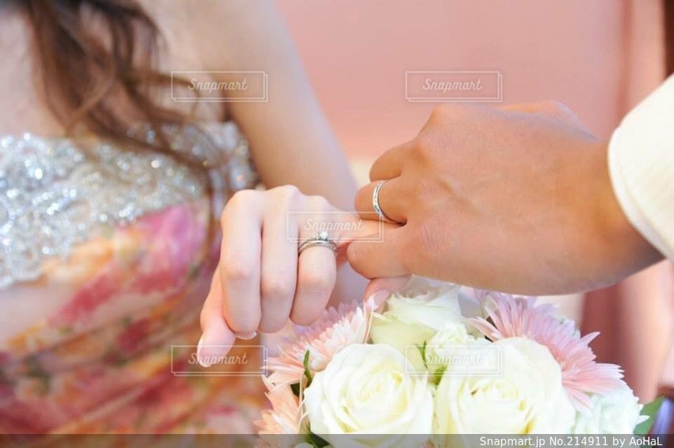 指輪の写真・画像素材[214911]