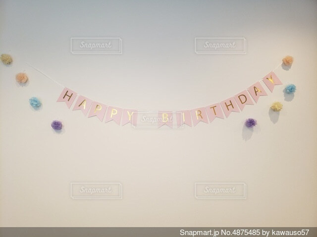 誕生日飾り付けの写真・画像素材[4875485]